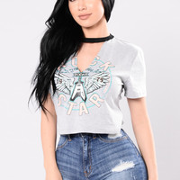 Girl Backstage Top - Grey