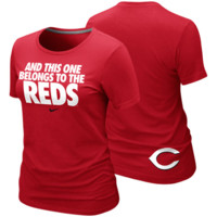 Nike Cincinnati Reds Ladies This One Belongs to the Reds Local Premium T-Shirt - Red
