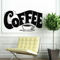 Wall Decals Vinyl Decal Sticker Art Murals Kitchen Cafe Decor Coffee Decal Kj435