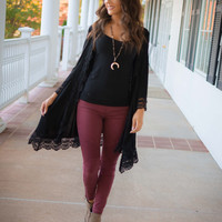 Just Go With It Cardigan-BLACK