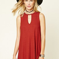Keyhole Cutout Shift Dress