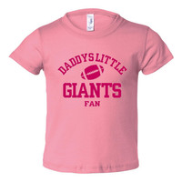 Daddys Little Giants Fan Toddler And Youth T-Shirt New York Fans Printed Tee for Kids Creepers & T-Shirts. Makes a Great Gift!!