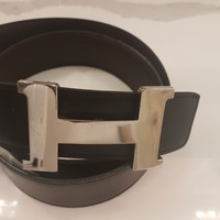 100% Authentic Hermes 42 MM Belt and Buckle $1300 size 95 Black/Brown