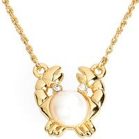 Women's kate spade new york 'shore thing' crab pendant necklace