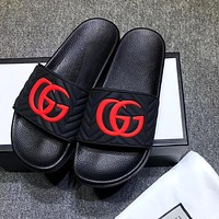 GUCCI simple retro men and women beach sandals shoes