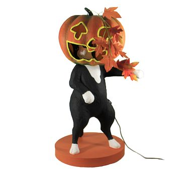 Halloween Life Of The Party Kitty Cat Black Cat Lighted - 5634081