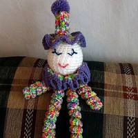 Clown Doll - Easter Clown Doll - Spring Clown Doll - Spiral Clown Doll
