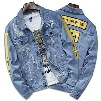 AreView Men Ripped Jacket