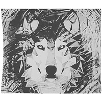 White Wolf Tapestry black Distressed Tapestry Wall Hanging Meditation Yoga Grunge Hippie