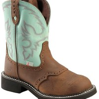Justin Waterproof Gypsy Teal Cowgirl Boots - Round Toe - Sheplers