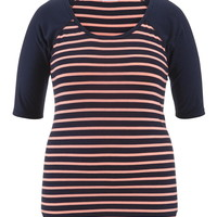 Plus Size - Navy Blue And