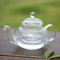 Practical Resistant Bottle Cup Glass Teapot with Infuser Tea Leaf Herbal Coffee Home 350ML Drop Shipping