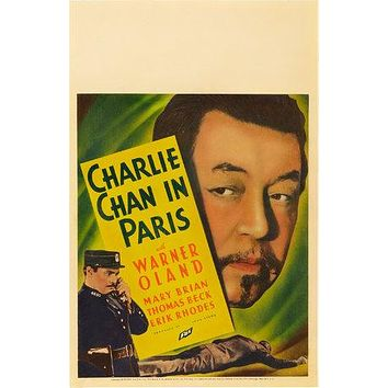 Charlie Chan in Paris Poster//Charlie Chan in Paris Movie Poster//Movie Poster//Poster Reprint
