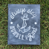 "Tim McGraw ""Humble and Kind"" chalkboard"