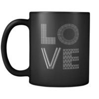 Ironworker / Welder - LOVE Ironworker / Welder  - 11oz Black Mug