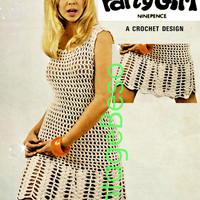 SEXY Play Girl Dress Instant Pdf 1960s Vintage Crochet Pattern Bikini Cover-up Vintage Beso UK Knitting Pattern DK 4PLY Pattern Lister N1884