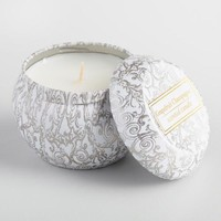 Grapefruit Champagne Winter Travel Candle Tin