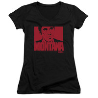 SCARFACE/MONTANA FACE-JUNIOR V-NECK-BLACK