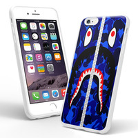bape shark  blue army military if00 iPhone and Samsung Galaxy Case