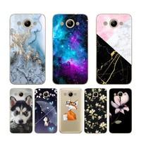 """CaseRiver Cute Painted Pattern Huawei Y3 2017 Case Soft TPU Case Huawei Y3 2017 Cover Back Protector Phone 5.0"""" Y3 2017 Case"""