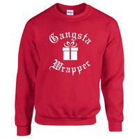 Gangsta Wrapper. Unisex Sweater. Christmas Sweater . Funny Christmas Sweater.  Gangsta Sweater. Ugly Christmas Sweater Contest.