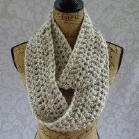 Ready To Ship Infinity Scarf Aspen Tweed Thick Women's Accessory Infinity Scarf