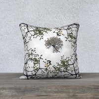 18x18 Square Pillow Covers - Home Decor Pillowcase - Floral Pillowcase - Accent Pillow Cover- Elderberry Blossom