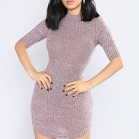 End Of Time Mini Dress - Merlot