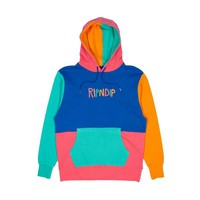 Color Black Multi Panel Hoodie (Multi) - Ripndip | RIPNDIP