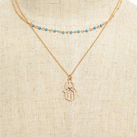 Hamsa Layered Necklace