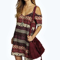 Laura Woven Strappy Cold Shoulder Dress