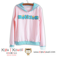 New Kawaii Sailor Uniform Japanese Style Fancy Sweater High Quality Winter Clothing KK707
