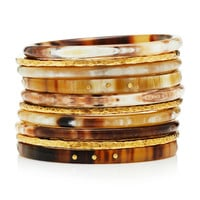 Bamba Bangle Set Mixed Horn | Moda Operandi