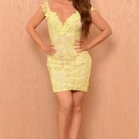 Grace Dress - Yellow