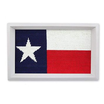 Big Texas Flag Needlepoint Valet Tray by Smathers & Branson