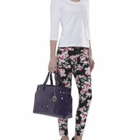 Armani Jeans Floral Printed Trousers