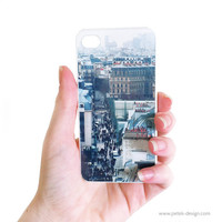 iPhone 4 Case. Paris Rooftops. Unique Accessory for iPhone 4 / 4s. Shabby Vintage inspire photo, French Style