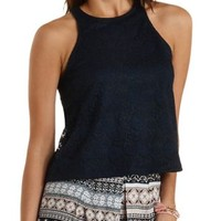 Lace Racer Front Tank Top by Charlotte Russe