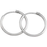 Platinum Basic Round Endless Hoop Earrings, 17.5mm
