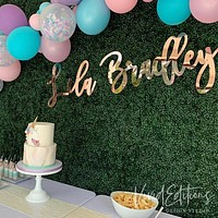 """30"""" Rose Gold Large Personalized Name Sign"""