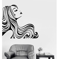 Wall Decal Woman With Sexy Hair Vinyl Sticker Unique Gift z3261