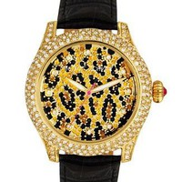 Betsey Johnson Watch, Women's Black Leather Strap 40mm BJ00019-08 - Betsey Johnson - Featured Brands - All Watches - Jewelry & Watches - Macy's