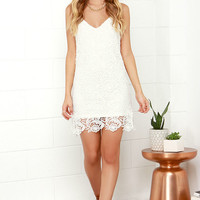 Castle in the Sky Ivory Lace Dress