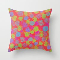 SPRING IS IN THE AIR Throw Pillow by Lauren Lee Designs