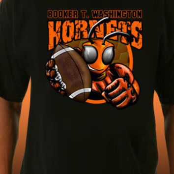 Booker T. Washington Hornets Football T-Shirt