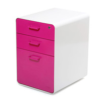 White + Pink West 18th File Cabinet