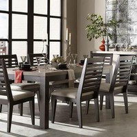4660 Helix - 5 Piece Set - Leg Table & 4 Slat Back Chairs