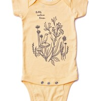Little Nature Lover - Organic Baby Onesuit (Buttercup Yellow) at boygirlparty.com