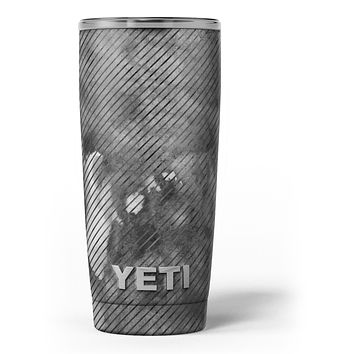 Gray Watercolor Stripes - Skin Decal Vinyl Wrap Kit compatible with the Yeti Rambler Cooler Tumbler Cups