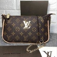 LV 2018 new trend wild shoulder bag female chain bag Messenger bag
